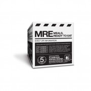 Side view of Meal Kit Supply's 12-case of 3-course MREs.