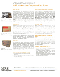 Download MRE Marketplace's one-pager.